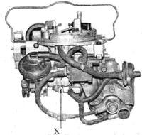 Схема вакуумных соединений карбюратора
